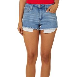 Rewash Juniors Riley High Waist Front Zip Shorts
