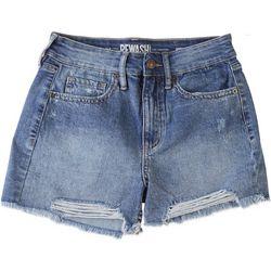 Rewash Juniors Frayed Hem Destructed Shorts