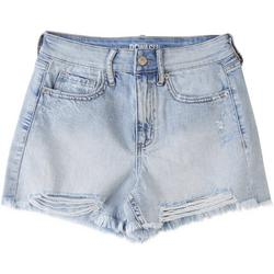 Juniors Frayed Hem Destructed Shorts