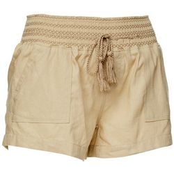 Rewash Juniors Solid Linen Shorts