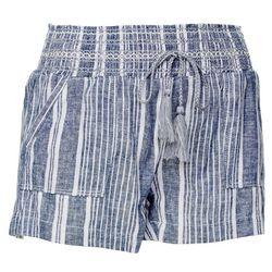Rewash Juniors Vertical Stripe Linen Shorts