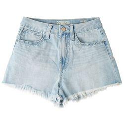 Rewash Juniors Frayed Hem High Rise Shorts