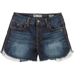 Rewash Juniors Frayed Hem High Rise Shorts