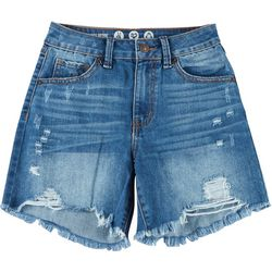 Rewash Juniors Wedge Mid Length High Rise Shorts