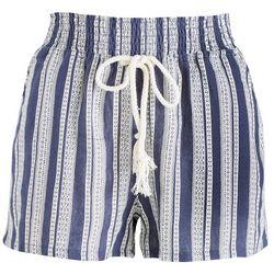 Be Bop Juniors Stripes & Ties Elastic Waist Shorts