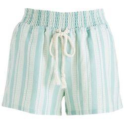 Be Bop Juniors Geometric Striped High Waist Shorts