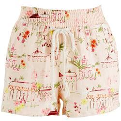 Juniors Historical Elastic Waist Shorts