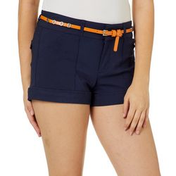 Be Bop Juniors Belted Good Vibes Shorts