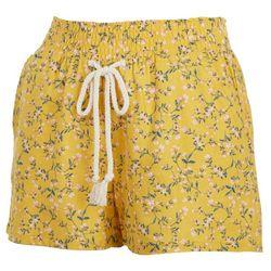 Be Bop Juniors Floral Elastic Waist Linen Shorts