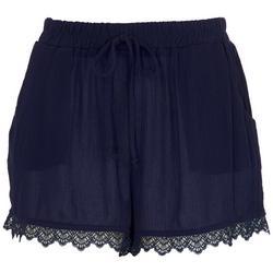 Juniors Be You Be Free Crochet Hemline Shorts