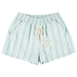 Be Bop Juniors Geometric Striped High Waist Shorts