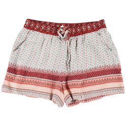 Be Bop Juniors Multi Printed Elastic Tie Waist Shorts