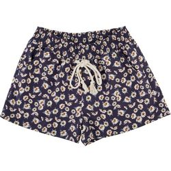 Be Bop Juniors Floral Elastic Tie Waist Shorts