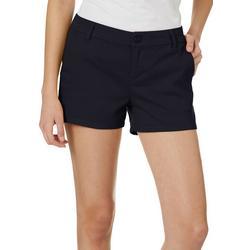 Juniors Solid Twill Shorts
