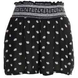 Be Bop Juniors Smocked Waist Bicolor Shorts