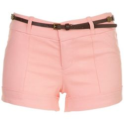 Be Bop Juniors Belted Twill Shorts