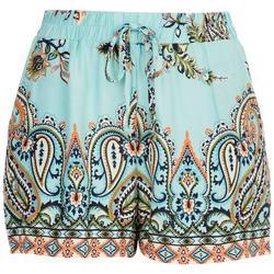 Juniors Paisley Shorts