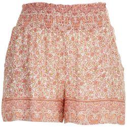 Be Bop Juniors Smocked Waist Shorts