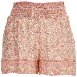 Juniors Smocked Waist Shorts