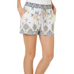 Be Bop Juniors Floral Damask Soft Shorts