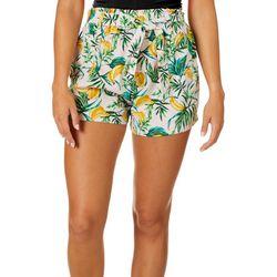 Be Bop Juniors Belted Banana Tree Shorts
