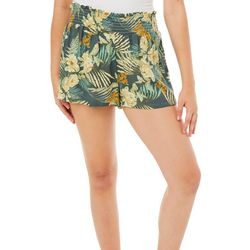 Be Bop Juniors Tropical Palm Leaf Floral Gauze Soft Shorts