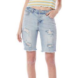 Unionbay Juniors Farm Girl Ripped  Bermuda Shorts