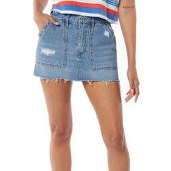 Unionbay Juniors Frayed Denim Skirt