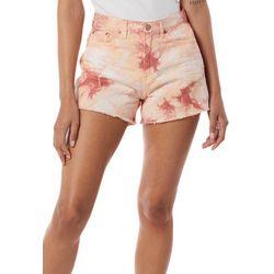 Unionbay Juniors Tie-Dye Frayed Shorts