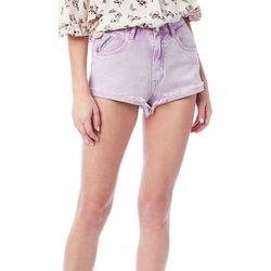 Unionbay Juniors Solid Frayed Denim Shorts