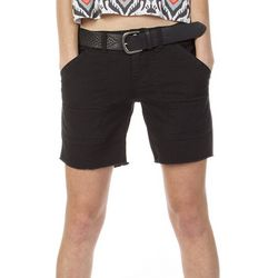 Unionbay Juniors Belted Ambrose Solid Shorts