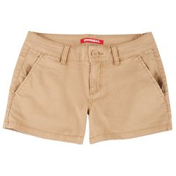 Unionbay Juniors Solid Cotton Four Pocket Shorts