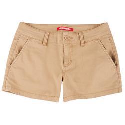 Unionbay Juniors Solid Cotton Four Pocket Shorts