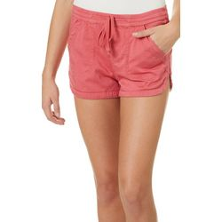 Unionbay Juniors Maribeth Solid Drawstring Pull On Shorts