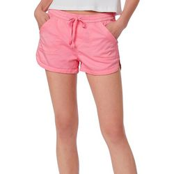 Juniors Maribeth Solid Drawstring Pull On Shorts