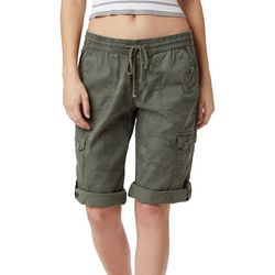 Unionbay Juniors Finnely Camo Convertible Skimmer Shorts