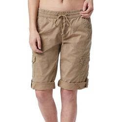 Unionbay Juniors Finnely Solid Convertible Skimmer Shorts
