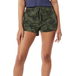 Unionbay Juniors Camo Tie Waist Cargo Shorts