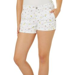 Unionbay Juniors Anika Tropical Polka Dot Print Shorts