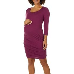 Times Two Womens Maternity Solid Dress