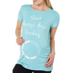 Como Blu Womens Maternity Next Happy Hour Pending Ruched Top