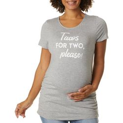 Como Blu Womens Maternity Tacos For Two Ruched Top
