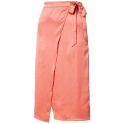 Juniors Solid Faux Wrap Skirt