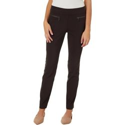 Leighton Juniors Solid Zip Pocket Pull On Pants