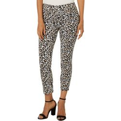 Joe Benbasset Juniors Leopard Print Pull On Ankle Pants