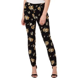 Joe Benbasset Juniors Feminine Floral Print Pull On Pants