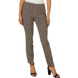 Juniors Geo Print Pull On Pants