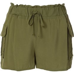 Joe Benbasset Juniors Solid Paperbag Shorts