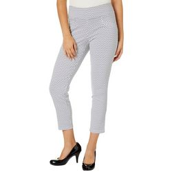 Joe Benbasset Juniors Diamond Print Millenium Ankle Pants