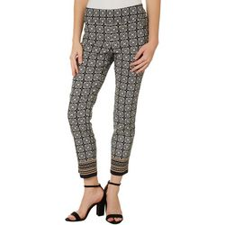 Joe Benbasset Juniors Geometric Tile Pull On Ankle Pants